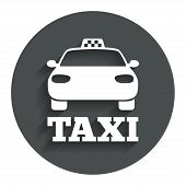 Taxi car sign icon. Public transport symbol.