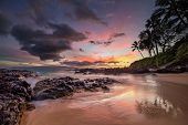 Moody Sunset At Secret Cove Maui