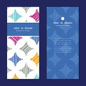 Vector colorful marble textured tiles vertical frame pattern invitation greeting cards set