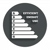 Energy efficiency icon. Electricity consumption