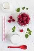 Colorful Raspberry Milk Drink Set
