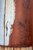old rust on the metal element