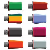 Постер, плакат: Usb Memory Sticks