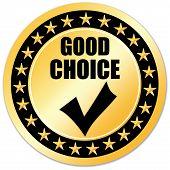 Good choice sticker