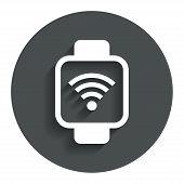 Smart watch sign icon. Wrist digital watch.