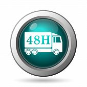 48H Delivery Truck Icon