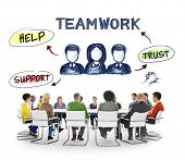 Multi-Ethnic Group of People and Teamwork Concept