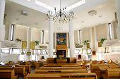Interior Of The Ashkenazic Synagogue In Samaria