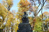 Krylov Monument In Summer Garden.