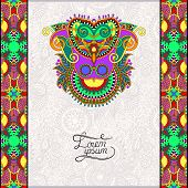 invitation card with neat ethnic background