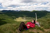 Relaxing On The Mountain Peek, Far From Everyday's Troubles
