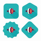 Exercise Roller Flat Icon With Long Shadow,eps10