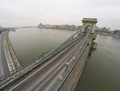Chain bridge over river Danube in Budapest