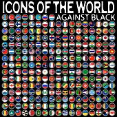 Icons Of The World Against Black