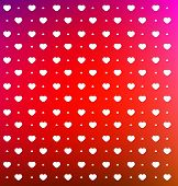 Valentines Day card with small white hearts