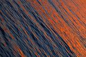 Orange Sea Waves At Beautiful Sea Sunset