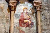 Ancient Fresco, Mural In The Catholic Cathedral Of Alba Iulia, Romania