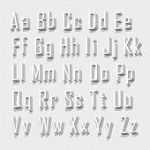 Font 3d set letter. Vector