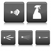 An image of a spray bottle with a variety of types of spray settings.