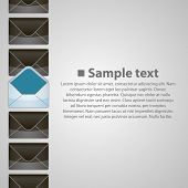 Vertical background writing