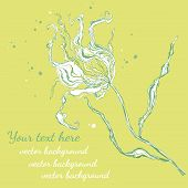 flower and blots yellow greeting card