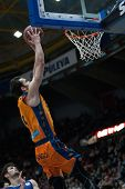 VALENCIA, SPAIN - JANUARY 24: Ribas during Spanish League match between Valencia Basket Club and UCAM Murcia at Fonteta Stadium on January 24, 2015 in Valencia, Spain