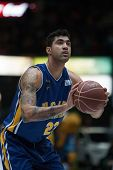 VALENCIA, SPAIN - JANUARY 24: Lima during Spanish League match between Valencia Basket Club and UCAM Murcia at Fonteta Stadium on January 24, 2015 in Valencia, Spain