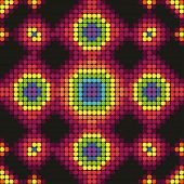 picture of cell block  - rainbow pattern of blocks on a black background - JPG