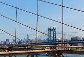 Manhattan Bridge from Brooklyn New York City US