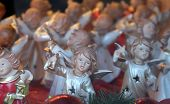 ST. WOLFGANG, AUSTRIA - DECEMBER 14: Angels, Christmas decoration shop in St. Wolfgang on Wolfgangsee in Austria on December 14, 2014.