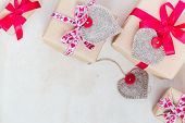 Valentines Day Gifts Hand Sewn Hearts Old Paper