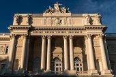 stock photo of neo-classic  - The central building of the main educational institutions Lviv University - JPG