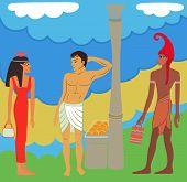 Ancient Egyptian-greek Market Negotiations