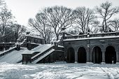 Snow On Bethesda Terrace