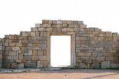 Ancient Wall With Door
