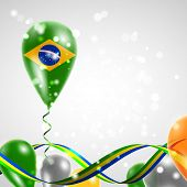 Flag of Brazil on balloon