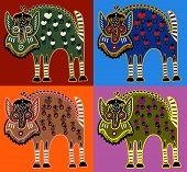 unusual Ukrainian traditional tribal art in karakoko style