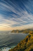 stock photo of windswept  - Breathtaking view of windswept sky over Parque Nacional Chiloe - JPG
