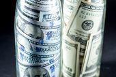 American dollars in the jars