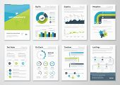 Big set of infographics vector elements and business brochures