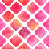 Watercolor seamless background, vector abstraction.
