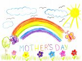 Child Drawing Mothers Day
