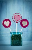Heart Lollipop In Pot