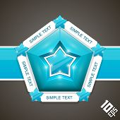Five stars mark