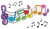 Cartoon music notes theme image 2 - eps10 vector illustration.