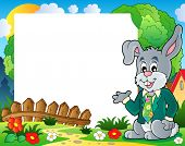 Frame with Easter rabbit theme 1 - eps10 vector illustration.