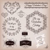 Collection Of Calligraphic Frames And Banners