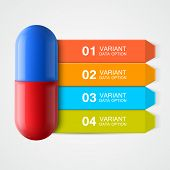 Creative template with medicine infographics.