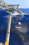 Skilift on winter resort Donovaly in Slovakia