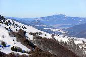 Winter scene in mountains, Donovaly Ski Resort, Slovakia